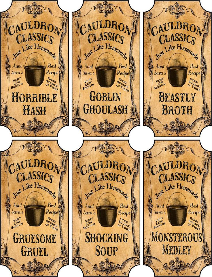 This is a set of 6 bottle label stickers. Halloween stickers. Each label is cut and ready to use. | eBay!