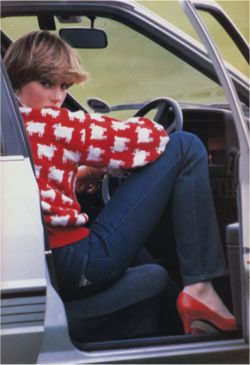 clubmonaco:      Princess Diana, Style Icon    Diana was so grounded in her fashion sense that she often exhibited the daring to pull off go-to-hell sweaters like this one.