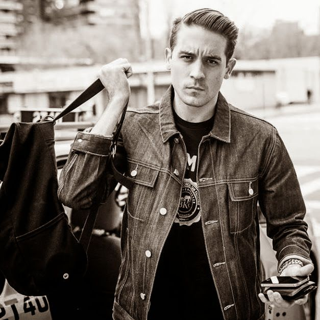 G-Eazy stuntin in a denim jacket