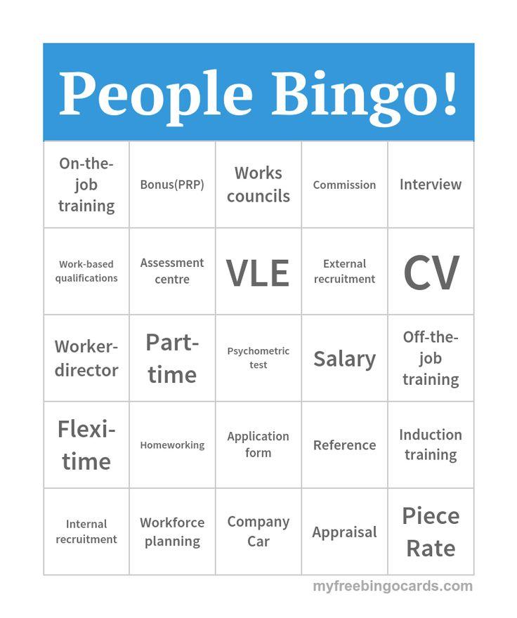 People Bingo! (H)