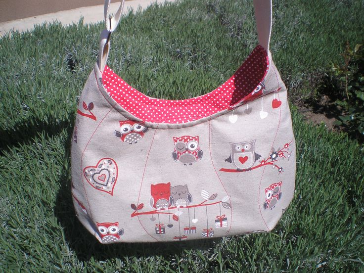 Canvas bag with owls. Handmade by Hobbysuli.
