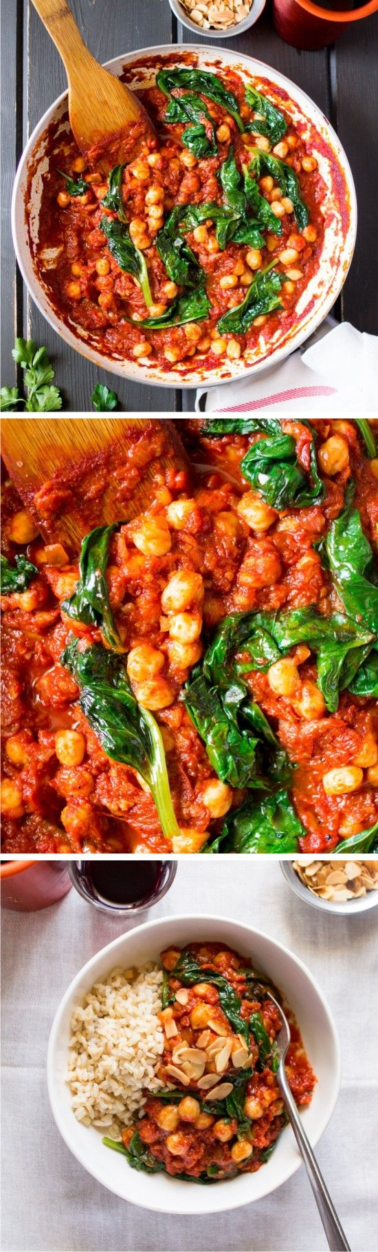 SPANISH CHICKPEA AND SPINACH STEW - healthy, recipes, spinach, vegan