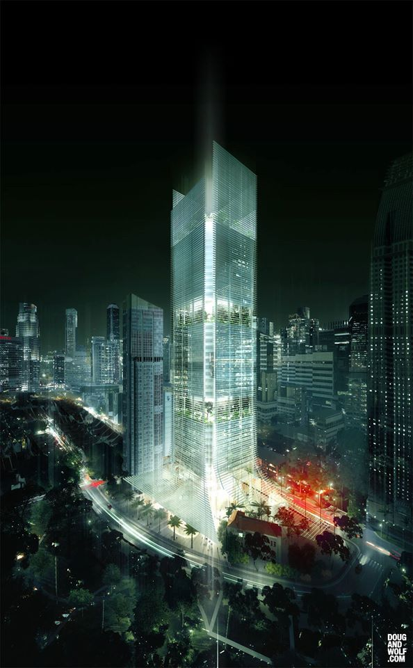 Ingenhoven Architects, Office Tower, Telok Ayea, Singapore
