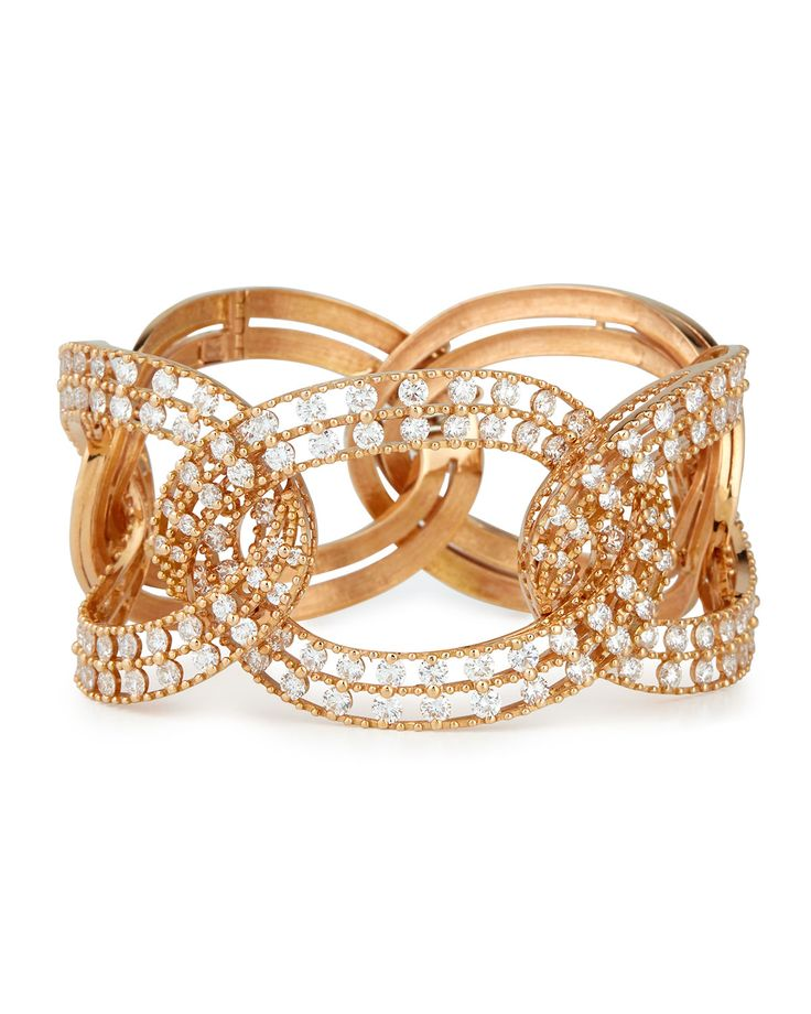 Staurino Fratelli 18k Rose Gold Moresca Bumble Bee Hinged Ring FPHNaD