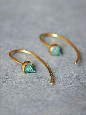 I love unique jewelry like these earrings and the color is pretty - ivy earrings