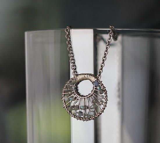 Camilla Necklace/Labradorite by sonhee on Etsy, $47.00