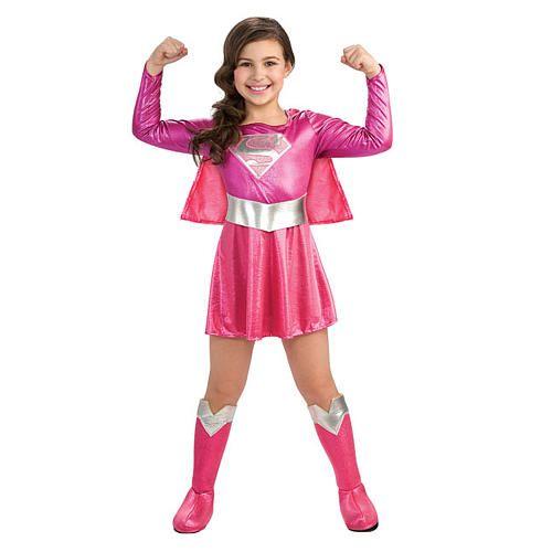 super hero pink girl halloween costume toddler size 2t 4t rubies costume - 4t Halloween Costumes Girls