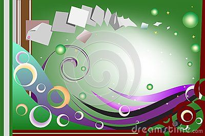 #Playful #sparkling #card with abstract colorful elements and #floating #papers indicating the #flow of #thoughts that crosses the mind of someone composing a sincere #message