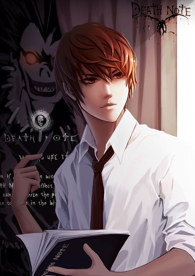 Light Yagami | Kira and Ryuk _Death Note | Death note ...