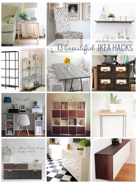 Best 14 antes y despu s before and after images on Ikea furniture makeover
