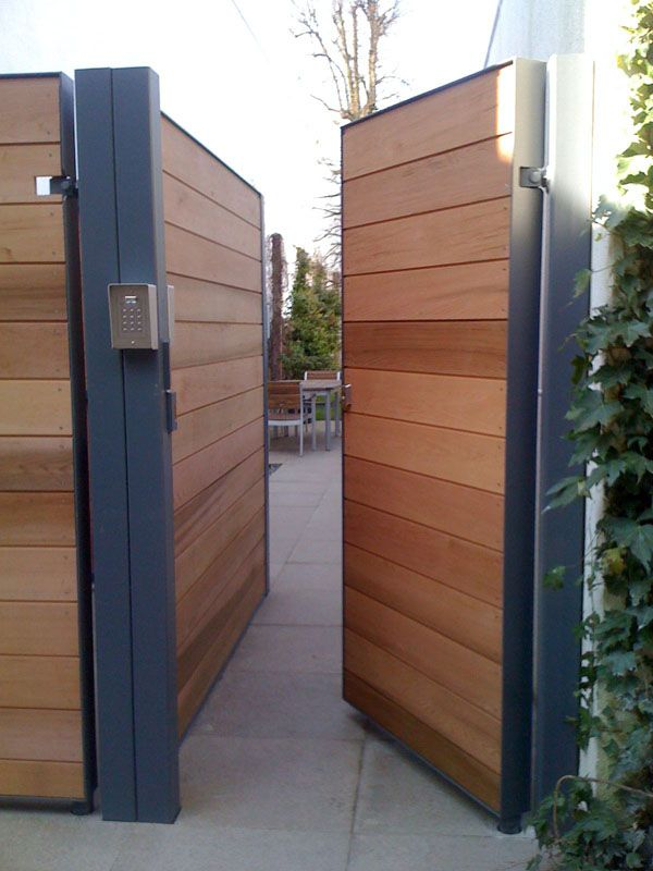 25 best ideas about modern gates on pinterest timber for Side door ideas