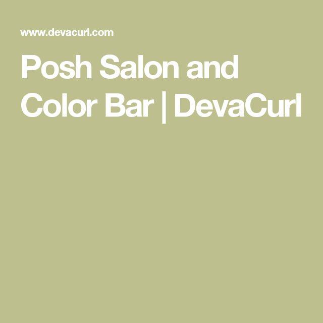 Posh Salon and Color Bar | DevaCurl