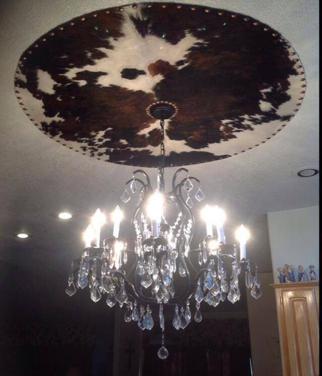 I probably wouldn't do this with cowhide, but might do something similar with a rug or cloth. Could be interesting.