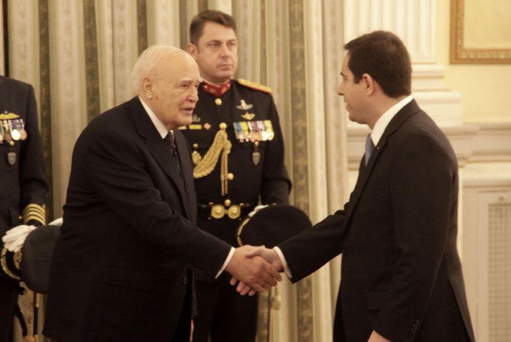 Στο Προεδρικό Μέγαρο μετέβη ο Νότης Μηταράκης για τις καθιερωμένες ευχές προς τον Πρόεδρο της Δημοκρατίας.
