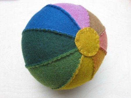 Felt Rainbow Ball