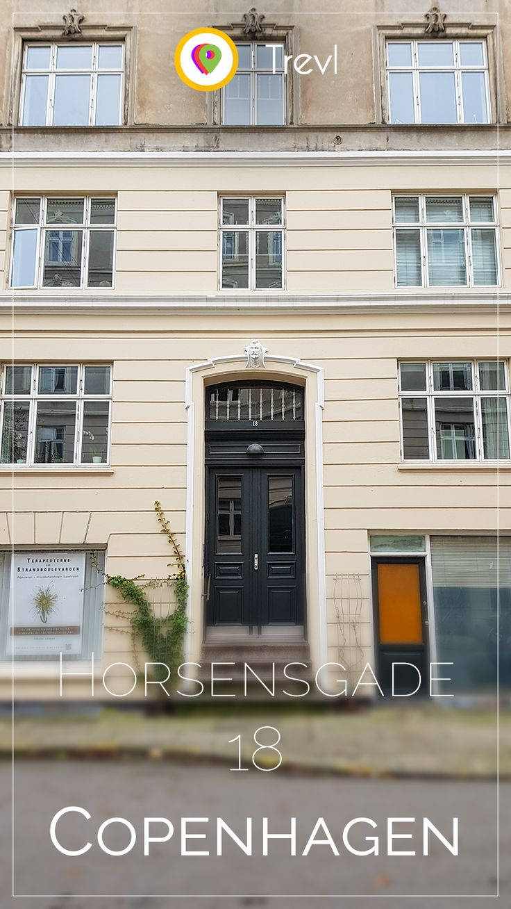 Front door at a residential building at Østerbro in Copenhagen, Denmark