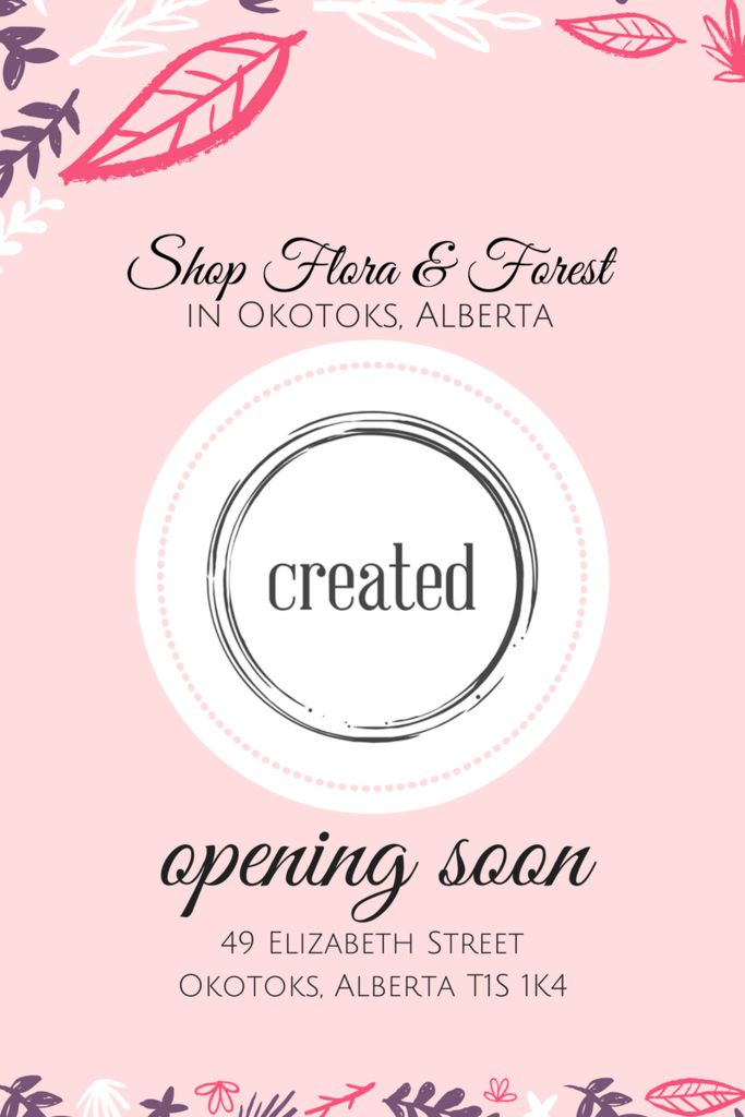 Coming Soon: Flora and Forest in Alberta! – Flora and Forest Jewellery