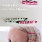 DIY Bobby Pins - Neon, Glitter & Sparkle: Diy Bobbypin, Cute Nails, Shorts Hair, Hair Accessories, Random Pin, Diy Collection, Fingers Nails, Nails Polish Colors, Diy Bobby Pin