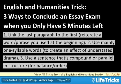 Better ways to conclude an essay