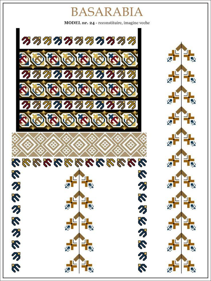 Romanian motifs - Swallow - Basarabia