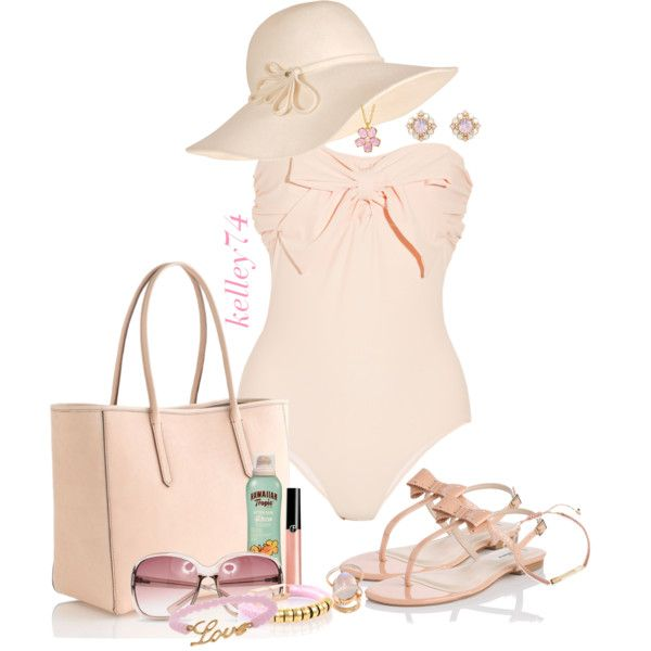 Pink Beach Love, created by kelley74 on Polyvore