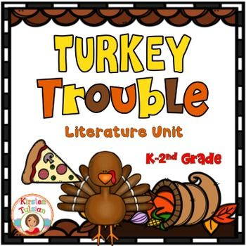Turkey Trouble by Wendi Silvano (illustrated by Lee Harper)Turkey Trouble is a hilarious Thanksgiving picture book for Kindergarten to 2nd grade.  Turkey Trouble is written by the same author as Turkey Trick or Treat, a new (and hilarious) picture book about Halloween.- Turkey Trouble Characters and Setting- First, Next, Then, Last- Turkey Trouble Sequencing Strips- Turkey Could Have... (graphic organizer)- Picture/Word Match- If I Were a Turkey...- Turkey Trouble Rhyming words- Turkey…