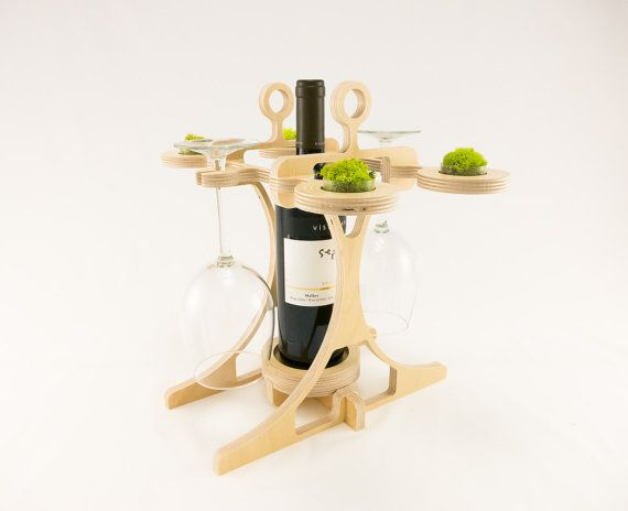 Holiday Gift Idea for the Wine Lover in your life:  Contemporary Wine Storage Rack by KkornerInnovations on Etsy.com