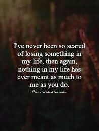 I never wanna lose you.... don't know what I would do without you.... i'm sorry...