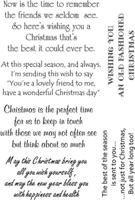 Lindsay Mason Clear Stamp Sentimental Christmas Verse