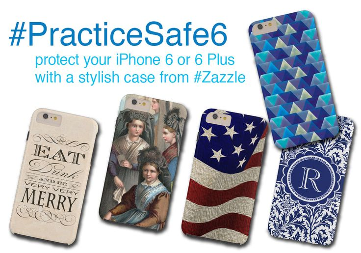 Protect your precious #iPhone6 or #iPhone6Plus with a fabulous case from #Zazzle.