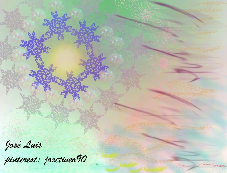 fractales pincels: sparkling Tea snowflakes2; 3, y 10. Odysee 4, 13, 12; sparks; sand Dunes; 0002. Fuente: Brush script MT Italic.