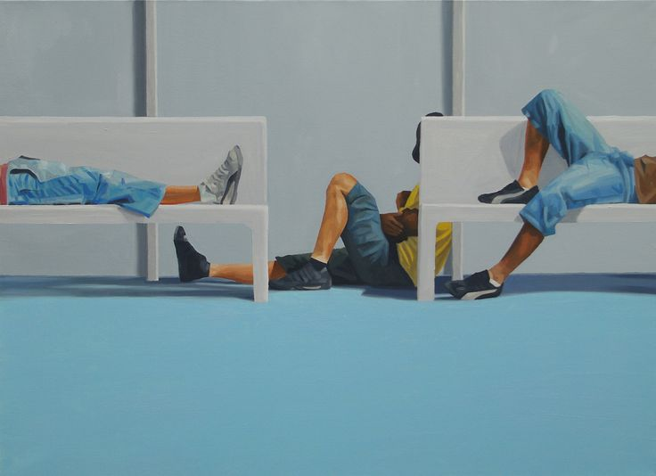 rest, oil on canvas,53.0 ×72.7cm, 2012