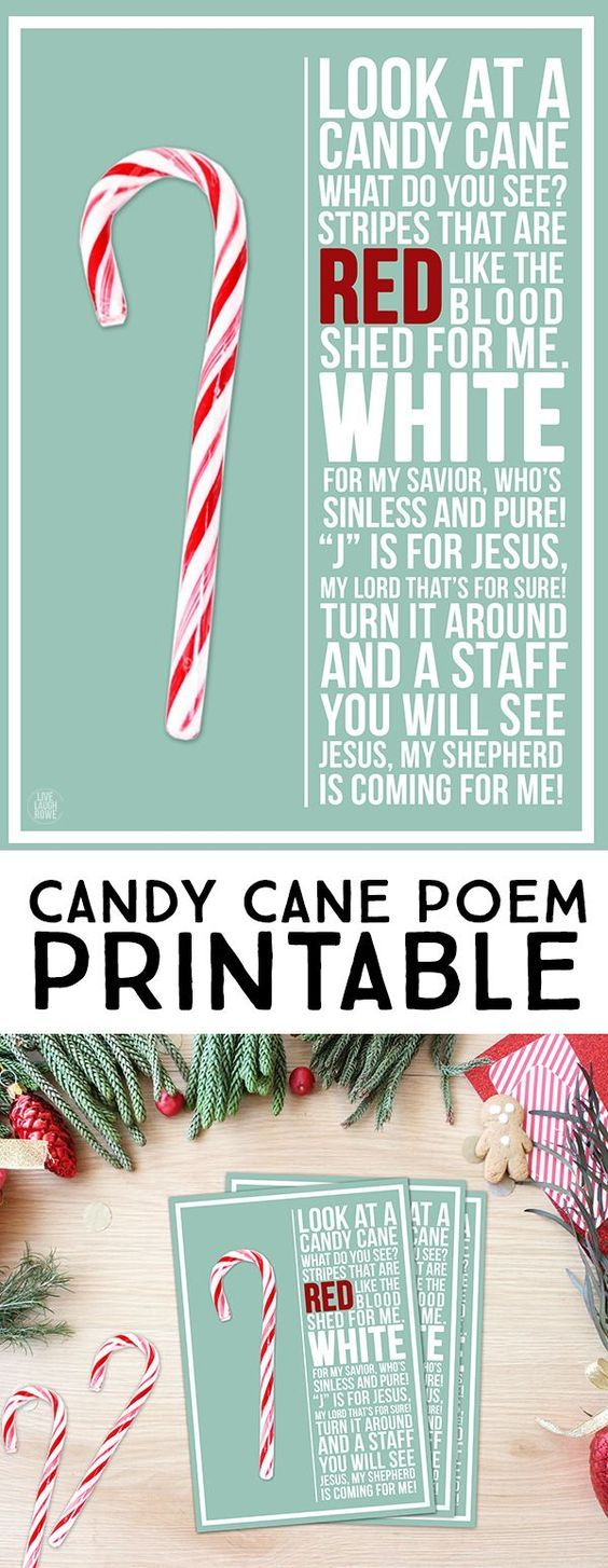 It is an image of Bewitching Candy Cane Poem Printable