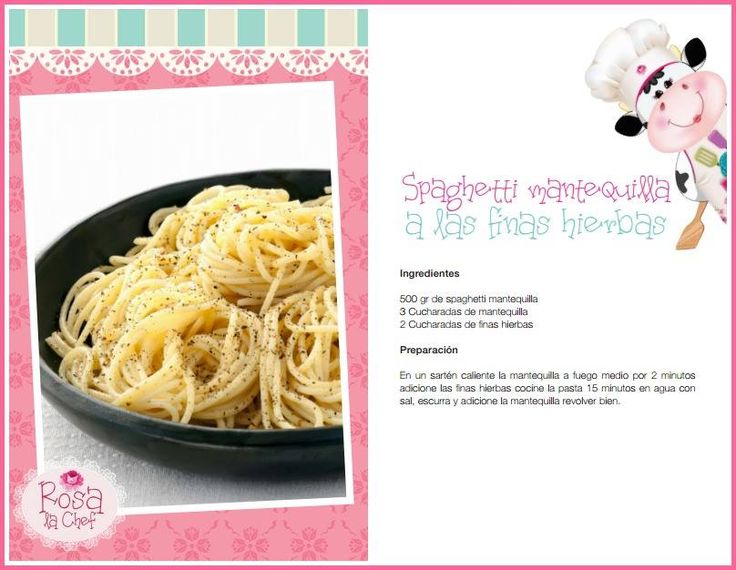 Spaghetti Mantequilla a las finas hierbas.