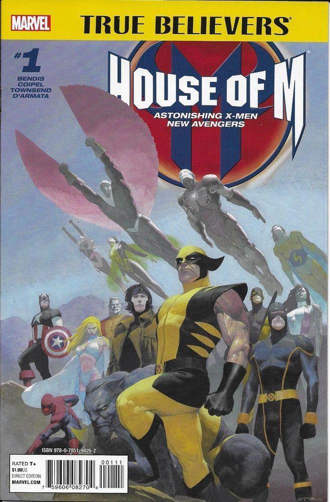 House Of M Avengers X Men Comic Issue 1 True Believers Reprint Bendis Townsend Marvel Comics Art Marvel Events House Of M