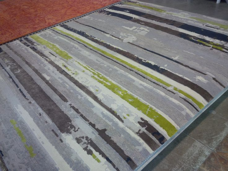 At Colin Campbell.  Wool, silk, and hemp.   Love the stripes and the green!   $9300.   See also photos at home.
