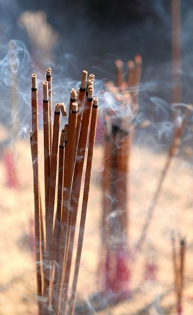 Incense's pleasant fragrance imparts your feelings of serenity to others - thus transferring some of your serenity to them.  This is particularly helpful when others try to disrupt YOUR inner peace.  If that fails lock the door!