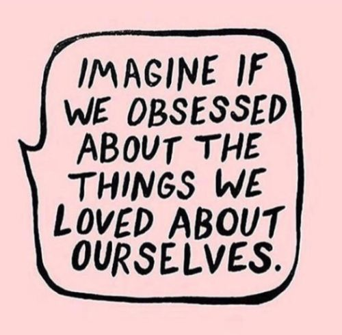 4fitnesssake:Learn to obsess over what you love about yourself