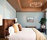 Brown & Cream Bedroom | Bedrooms | LUXE Source: Contemporary Bedrooms, Ceilings Lights, Blue Wall, Bedrooms Design, Four Seasons, Blue Bedrooms, Master Bedrooms, Colors Schemes, Brown Bedrooms