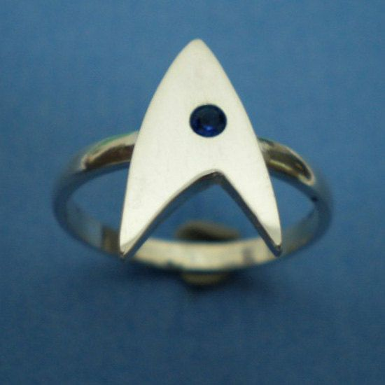unique star trek wedding ring geek nerd star trek fans - Star Trek Wedding Ring