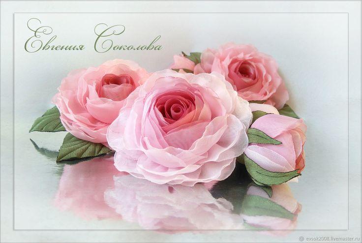 Брошь цветы Розовые розы – купить в интернет-магазине на Ярмарке Мастеров с доставкой