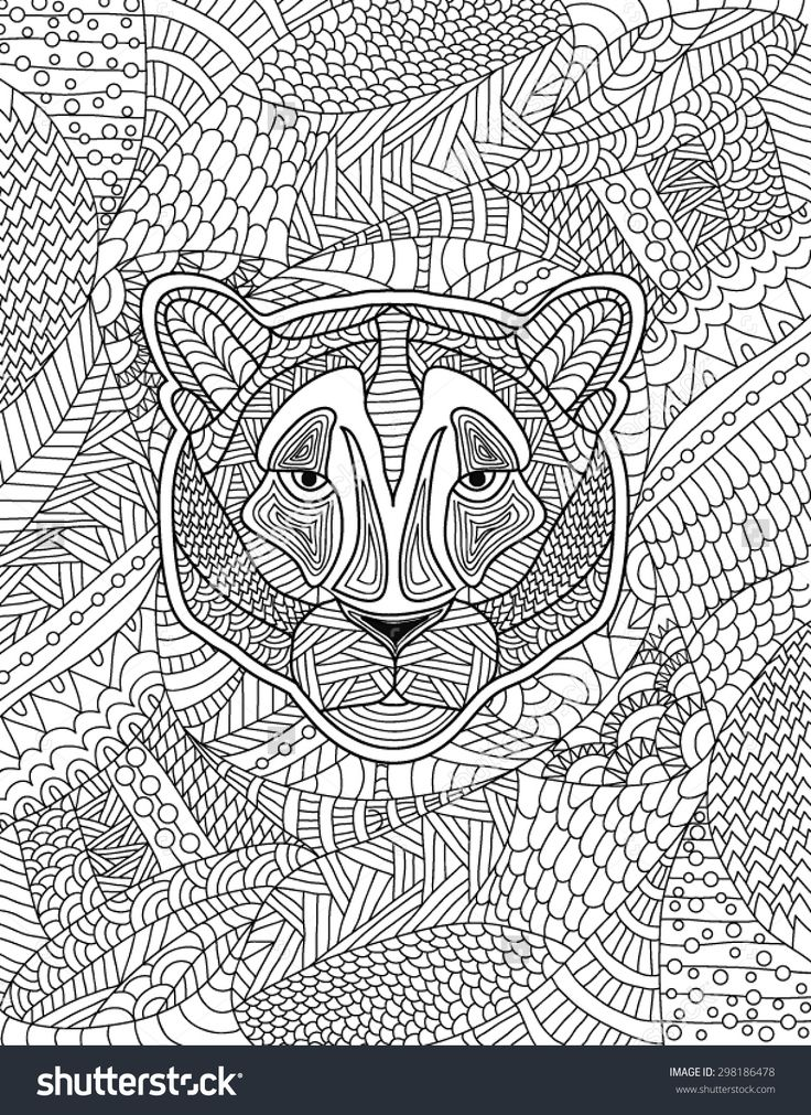 baboon animal coloring pages. hand drawn lion coloring page 1077 best  Adult Colouring Animals Zentangles images on Pinterest