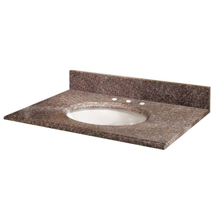 "Montero 37"" Granite Vanity Top with Sink"