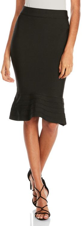 Wow Couture Flared Bandage Skirt