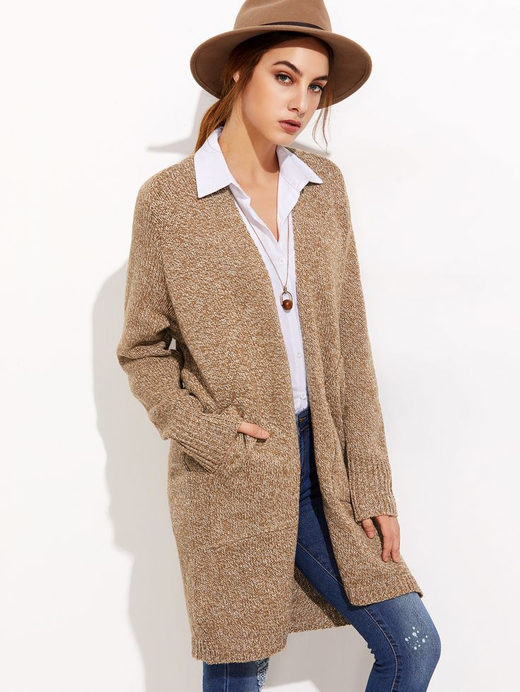 Shop Khaki Raglan Sleeve Cardigan With Pockets online. SheIn offers Khaki Raglan Sleeve Cardigan With Pockets & more to fit your fashionable needs.