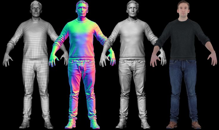 Download our high resolution full head and body scan in both Zbrush and OBJ…