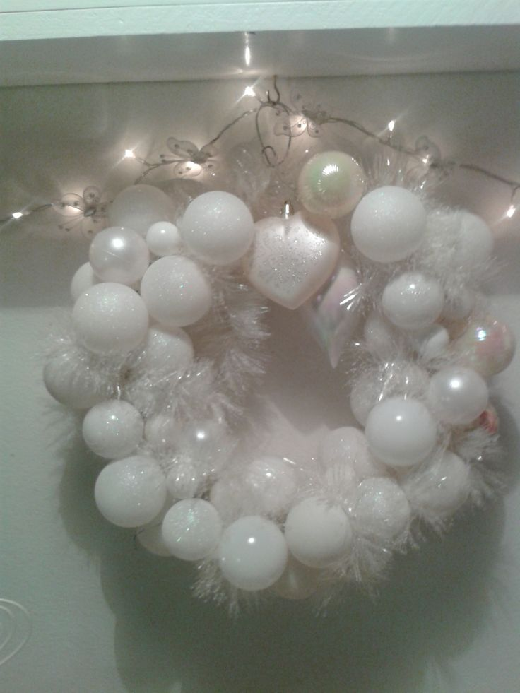 self-made christmas ball wreath (own photo)