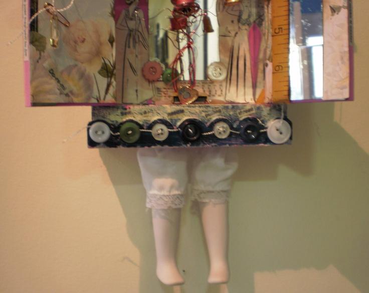Detail of bottom section of 'Needle Pulling Thread' 2012 Karin McCombe Jones, NZ Artist
