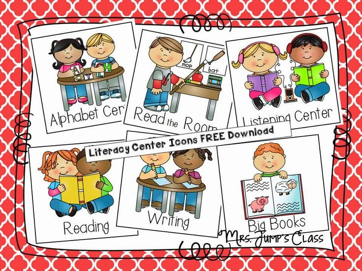 What are the Other Kids Doing? {FREEBIE} You can click HERE to print out the Icons for your Literacy Center Board.