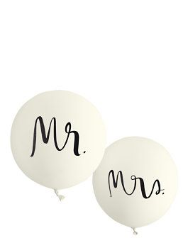 mr. and mrs. balloon set by kate spade new york - For the Head Table!